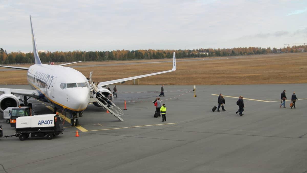Ryanair Lappeenrannan lentokentällä