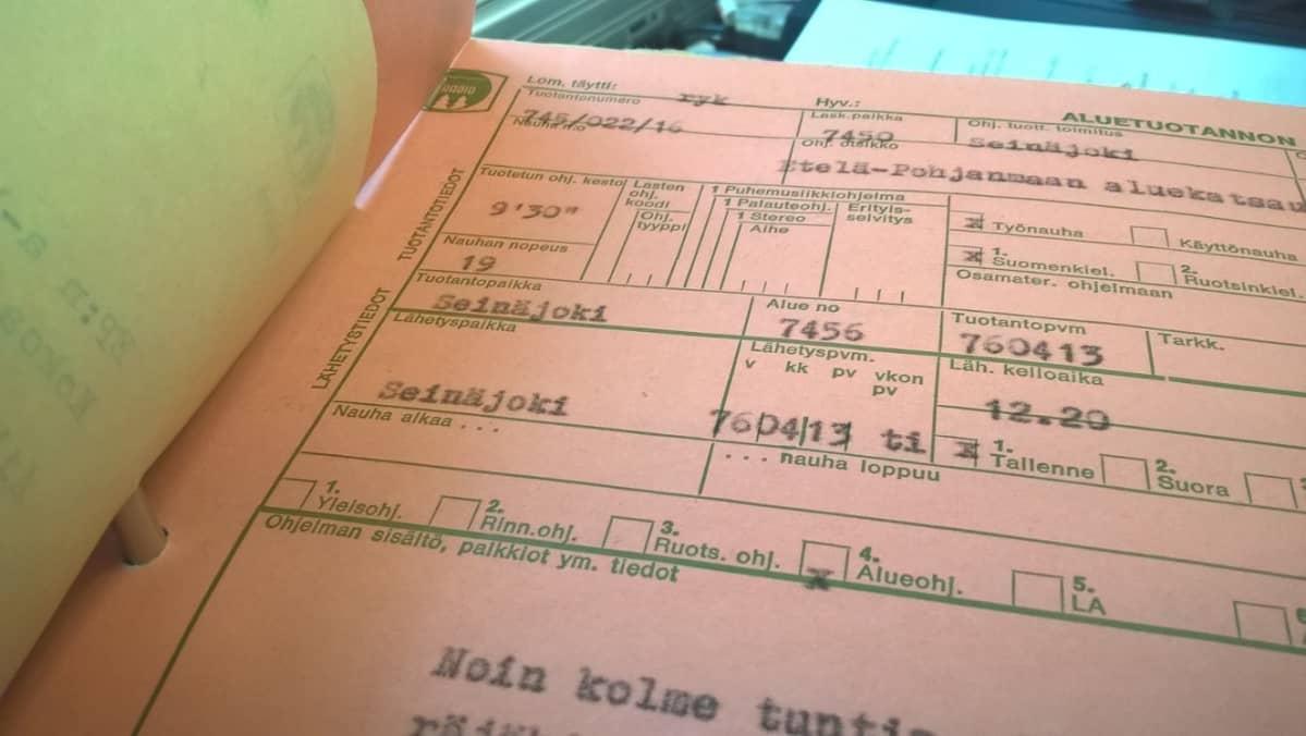 Etelä-Pohjanmaan aluekatsaus 13. huhtikuuta 1976