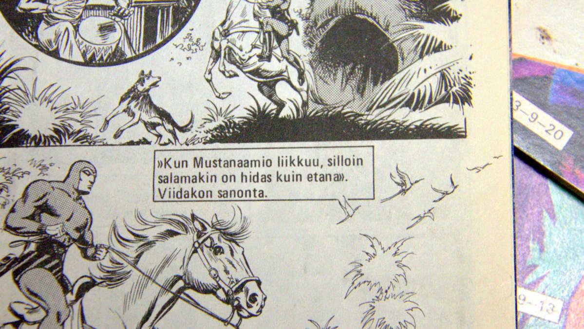 Vanha viidakon sanonta Mustanaamio-lehdessä