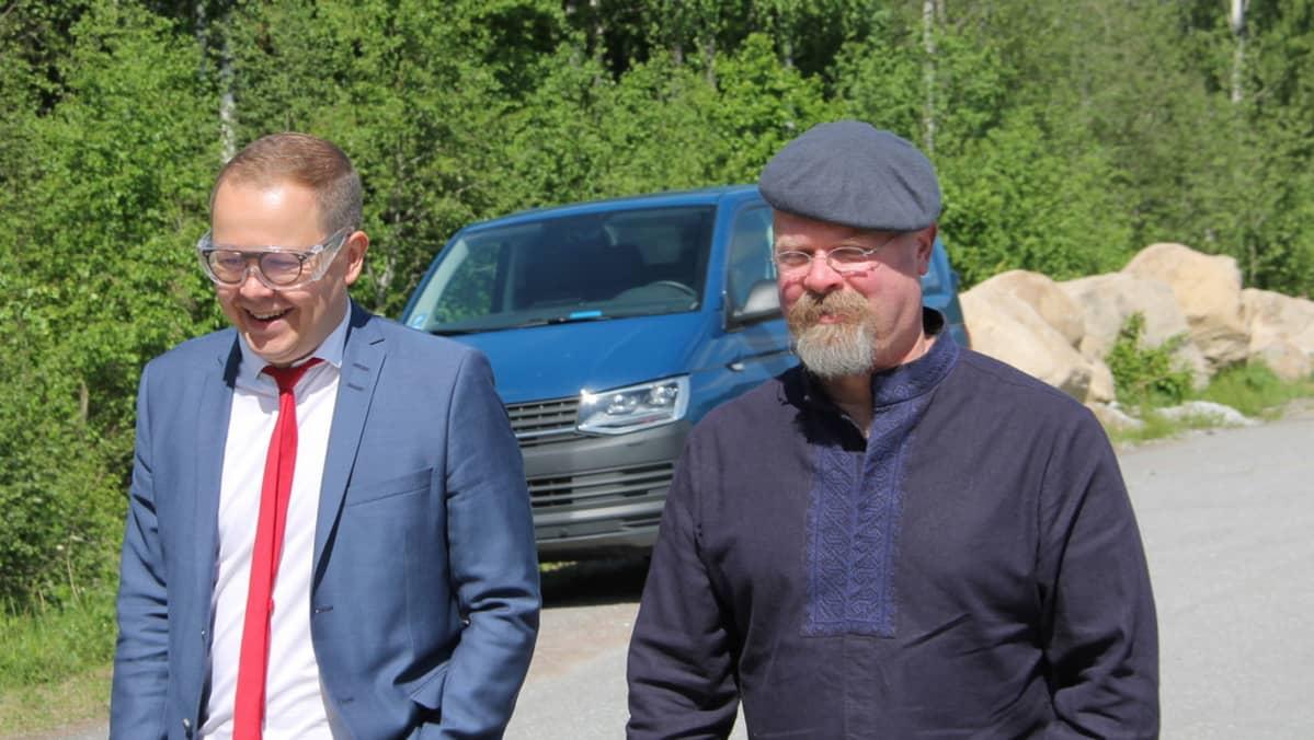 Juha-Matti Saksa ja Jamie Hyneman