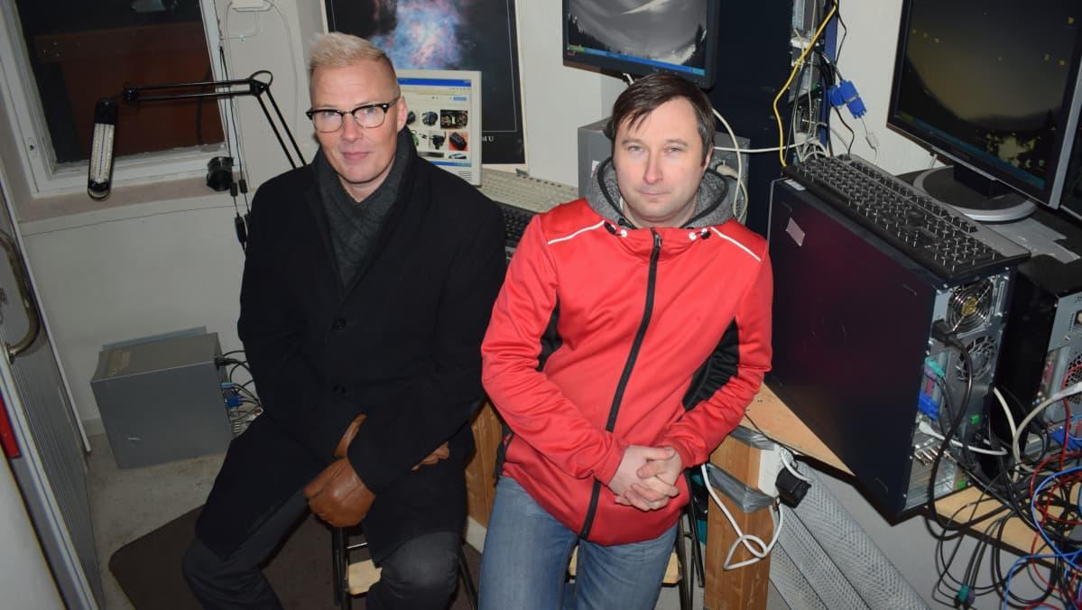 Mikkelin Ursan puheenjohtaja Aki Taavitsainen ja varapuheenjohtaja Jani Lauanne.
