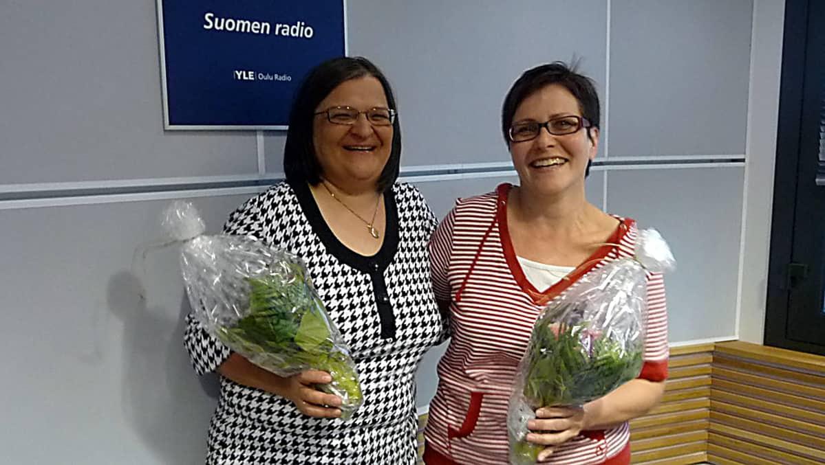 Voimakaksikko Ulla-Maija Flink (vas) ja Annika Millaskangas (oik).
