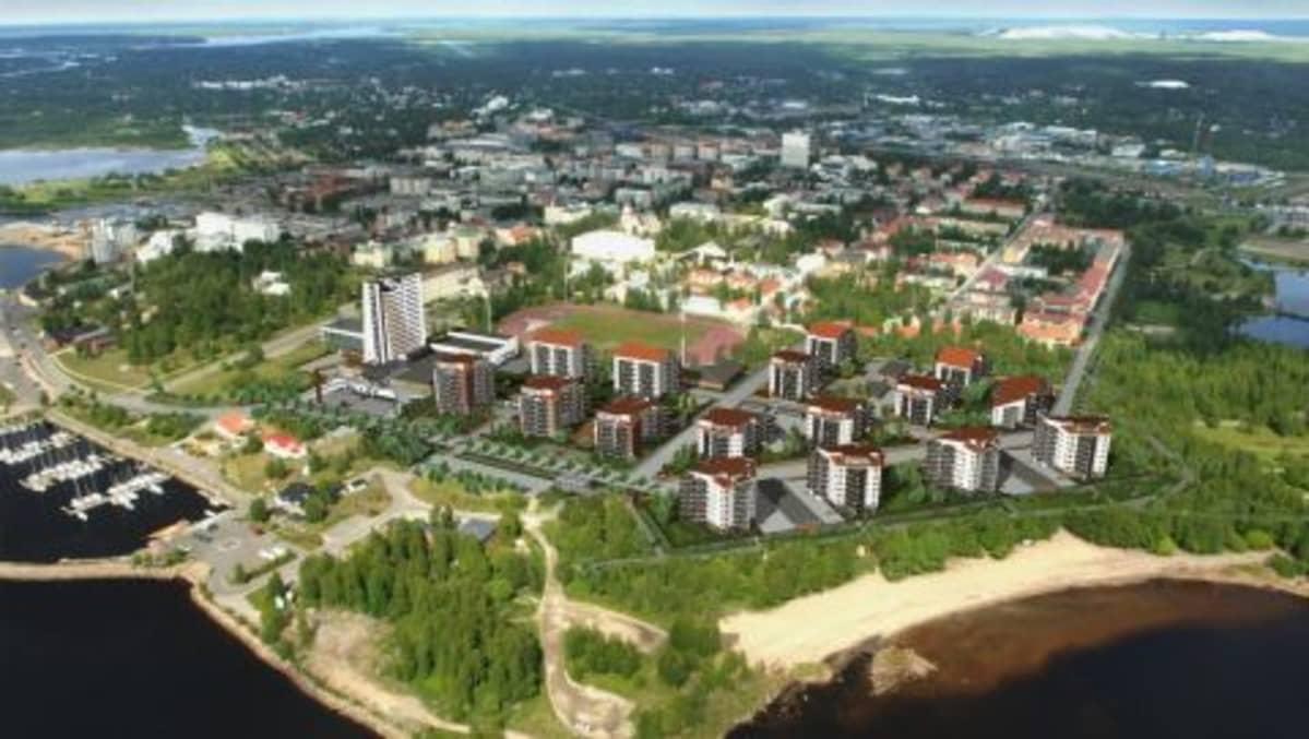 Havainnekuva Sarius-hankkeesta lännestä.