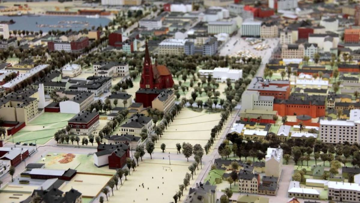 Viipurin pienoismalli Etelä-Karjalan museo