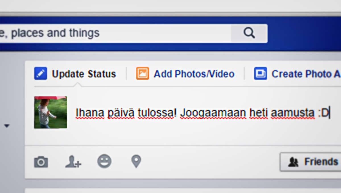 facebook-päivitys