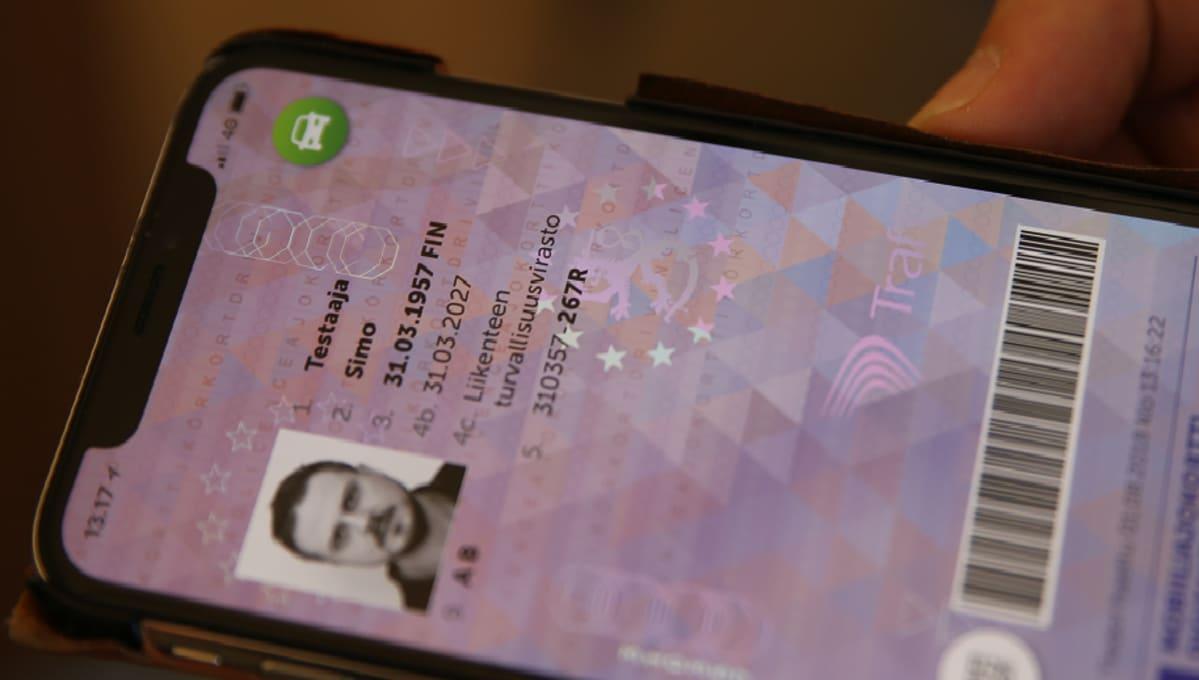 mobiiliajokortti testitunnuksilla