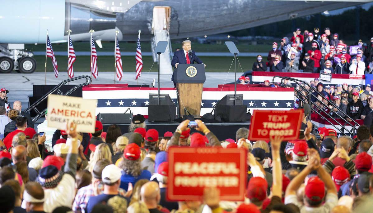 Trump kampanjoi Michiganissa 10. syyskuuta.