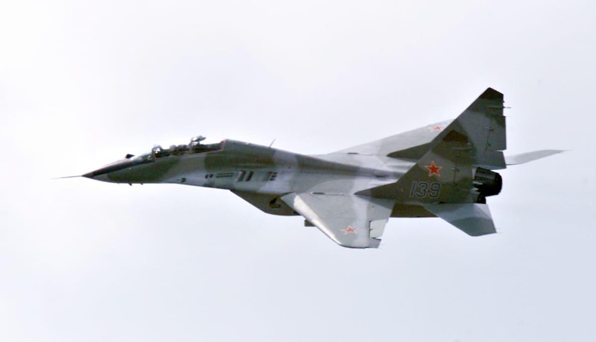 Venäläinen MiG-29 hävittäjä
