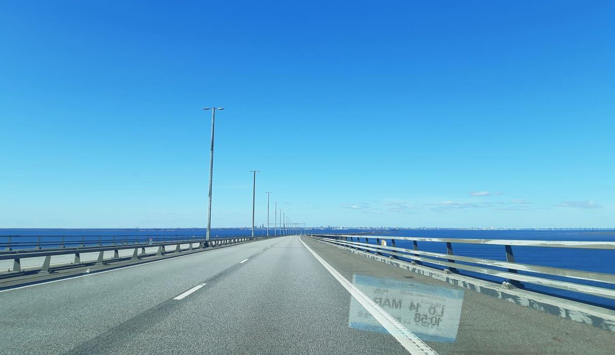 Juutinrauman sillalla Tanskan ja Ruotsin välillä ei ole enää liikennettä.