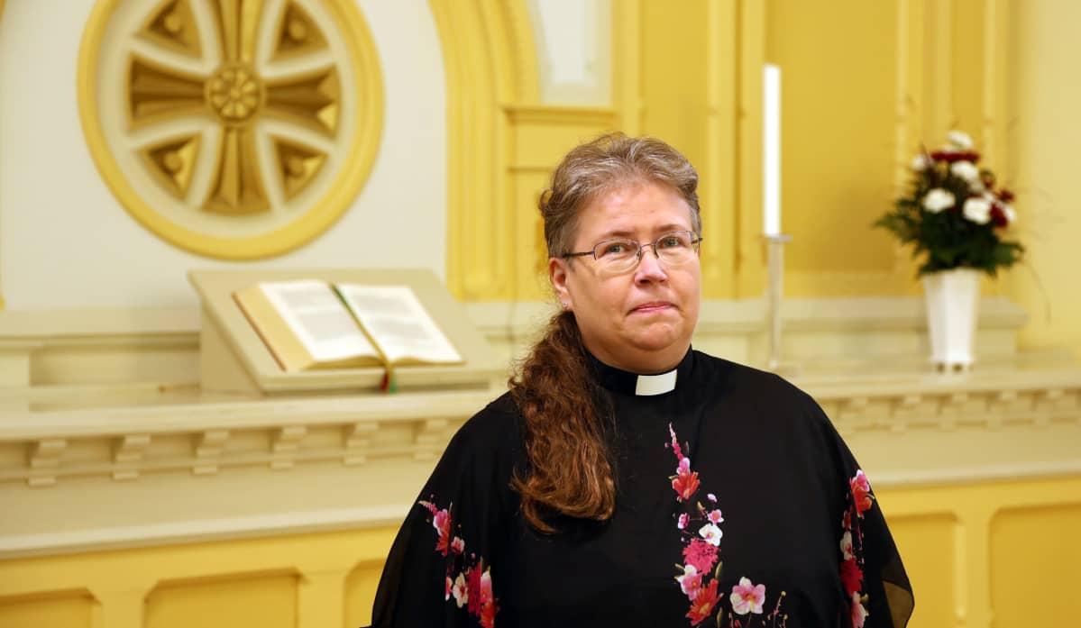 Mikkelin tuomiokirkkoseurakunnan kirkkoherra Arja Huuskonen.