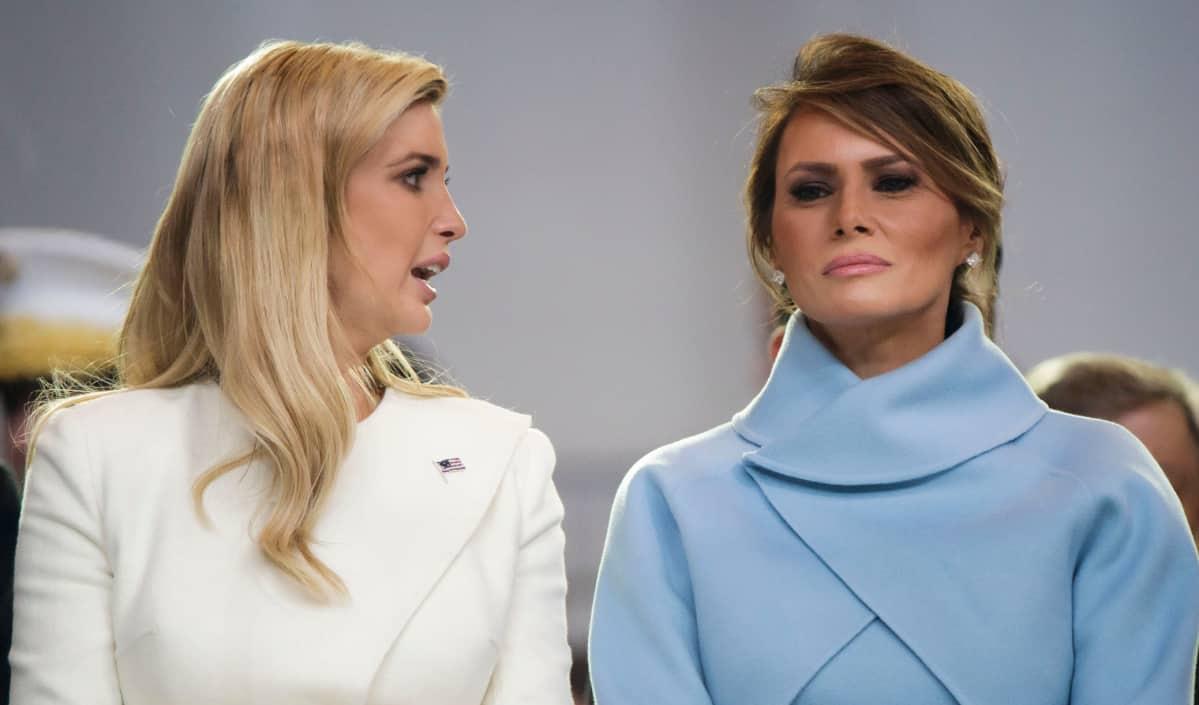 Ivanka Trump ja Melania Trump virkaanastujaisissa tammikuussa 2017.