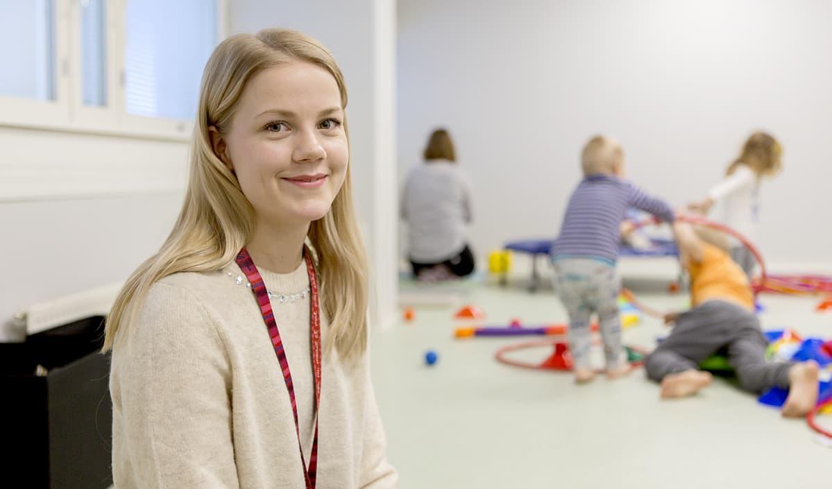 Lastentarhanopettaja Jenna Tiikasalo.