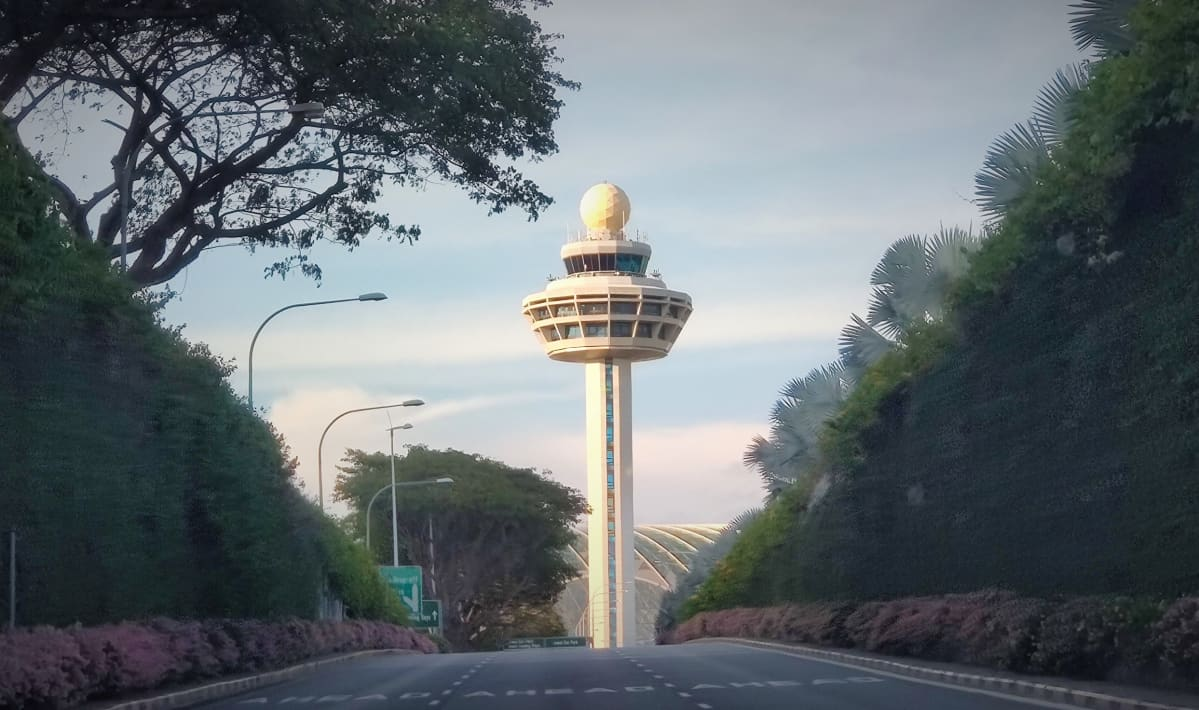 Singaporen Changin lentoaseman lennonjohtotorni