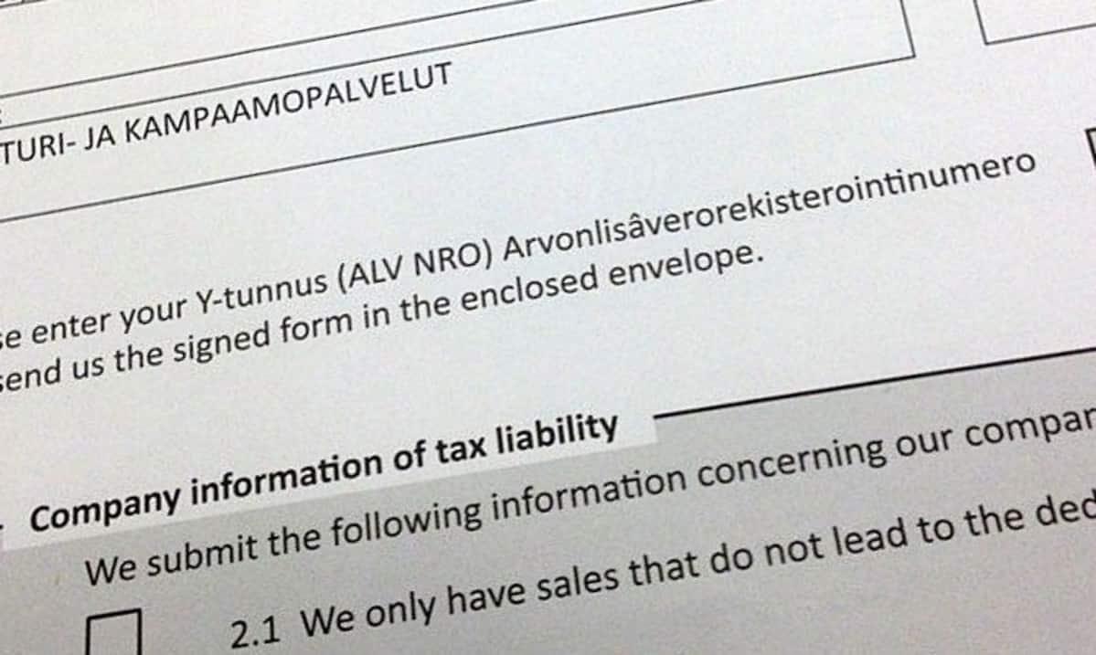 Joensuulaiselle parturi-kampaamoyrittäjälle saapunut kirje, joka vaikuttaa huijaukselta.
