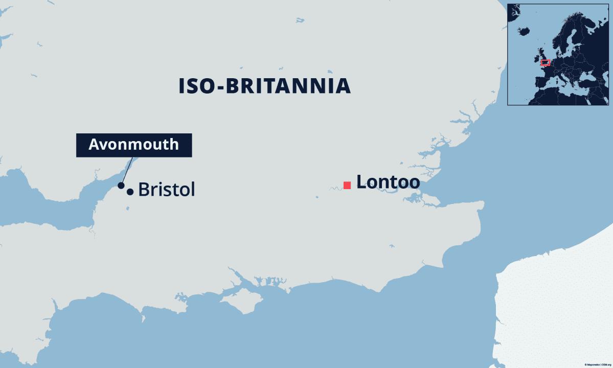Bristolin sijainti kartalla.