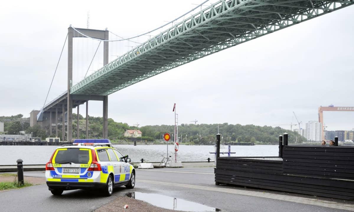 Poliisiauto Göteborgissa.