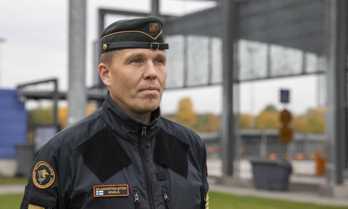 Kaakkois-Suomen rajavartioston apulaiskomentaja Juha Kivelä.