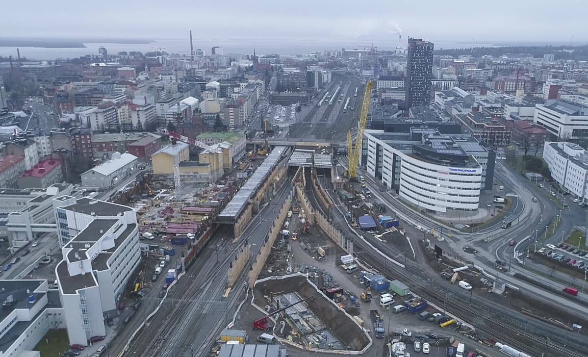 Kansiareenan työmaa Tampere
