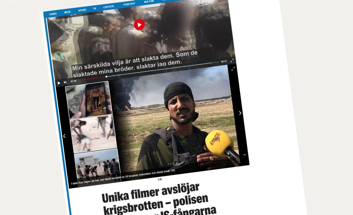 Kuvakkaappaus Expressen -lehdestä.
