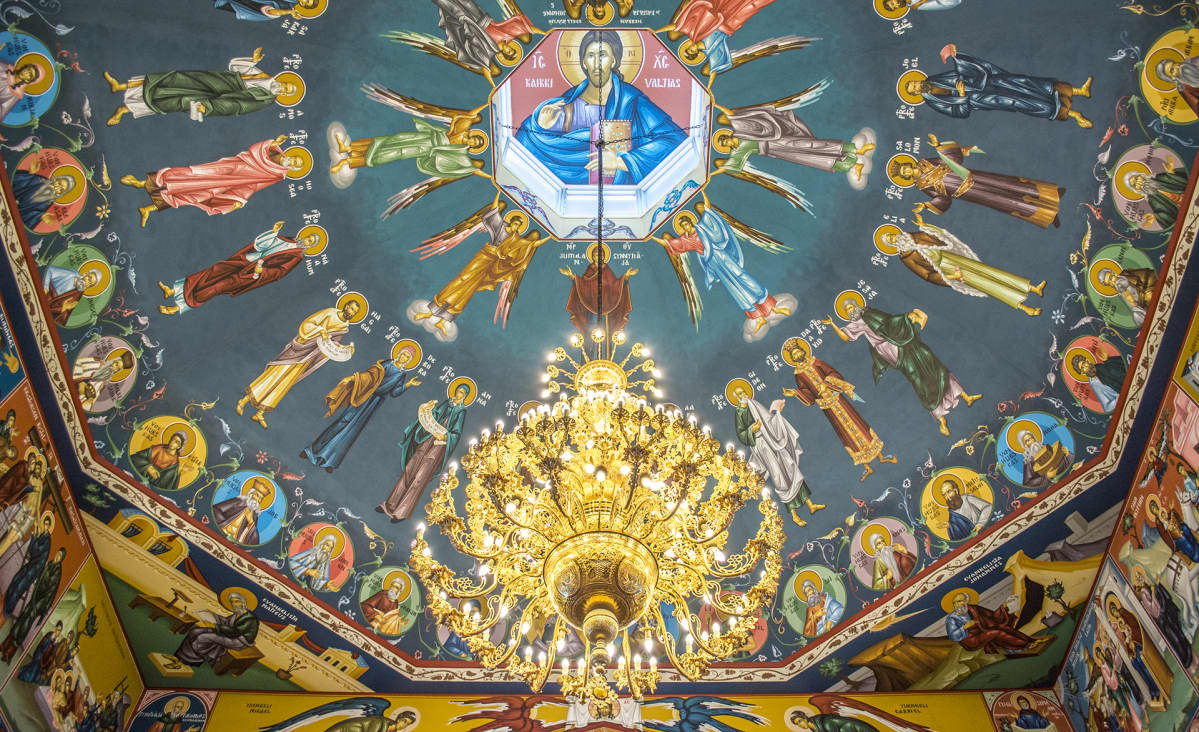 Kajaanin ortodoksisen kirkon kattomaalaukset.