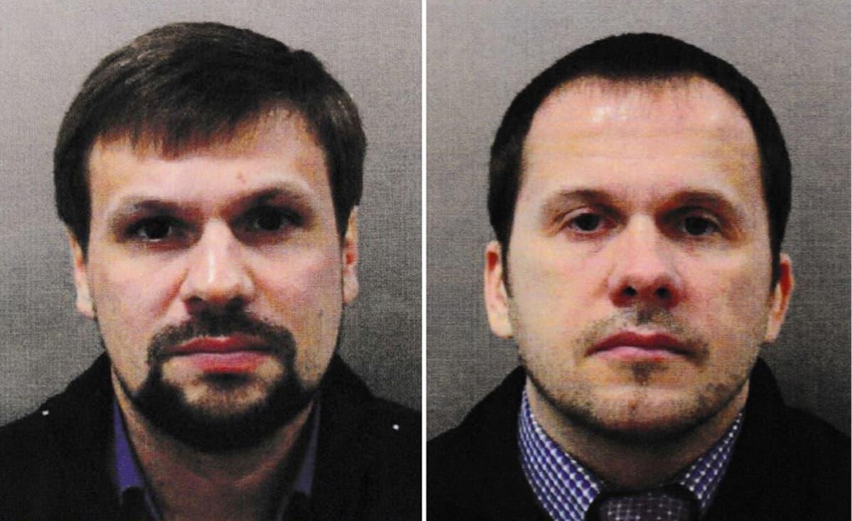 Passikuvan tyyppiset kuvat Petrovista ja Boširovista.