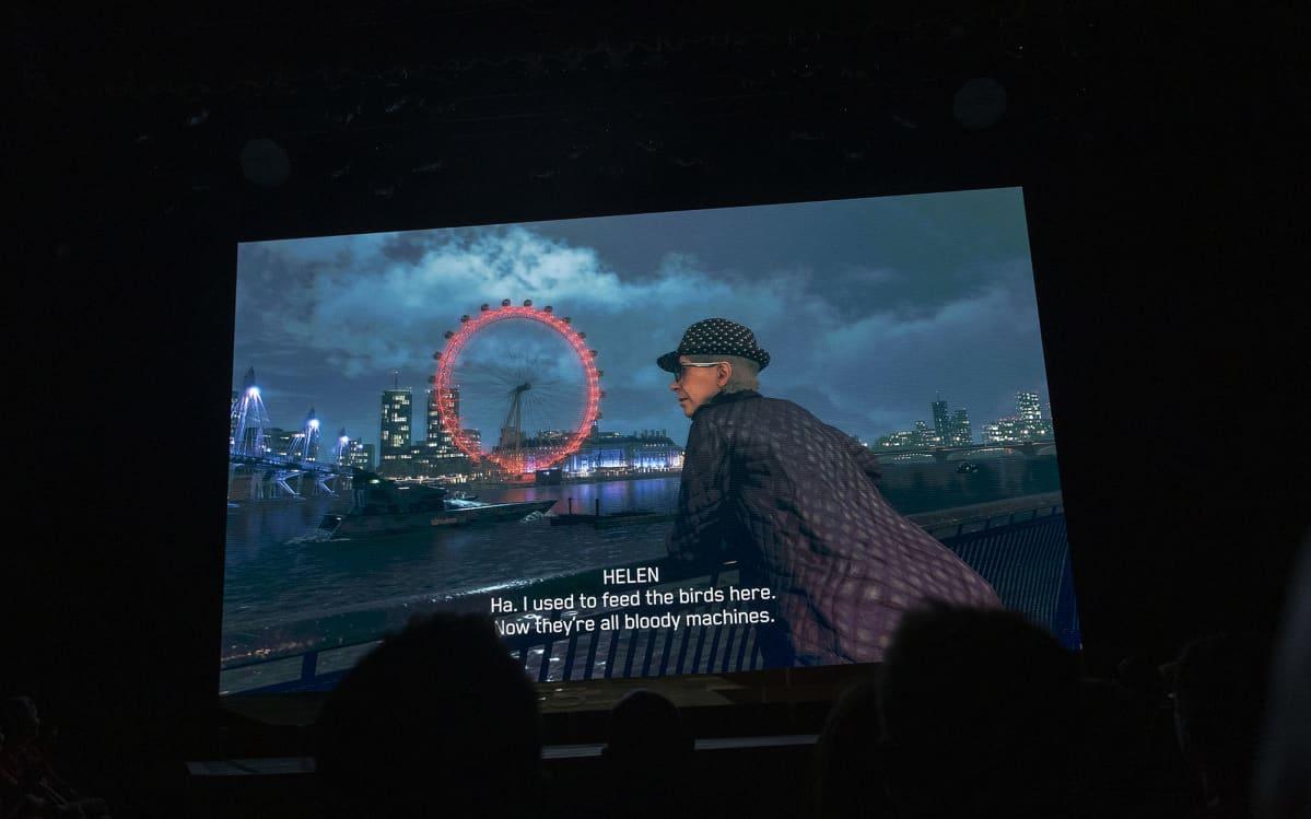 Kuvassa on ruutu pelistä Watch Dogs Legion.