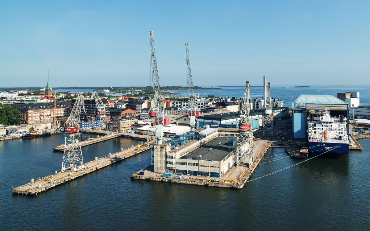 Ilmakuva: Helsingin telakka
