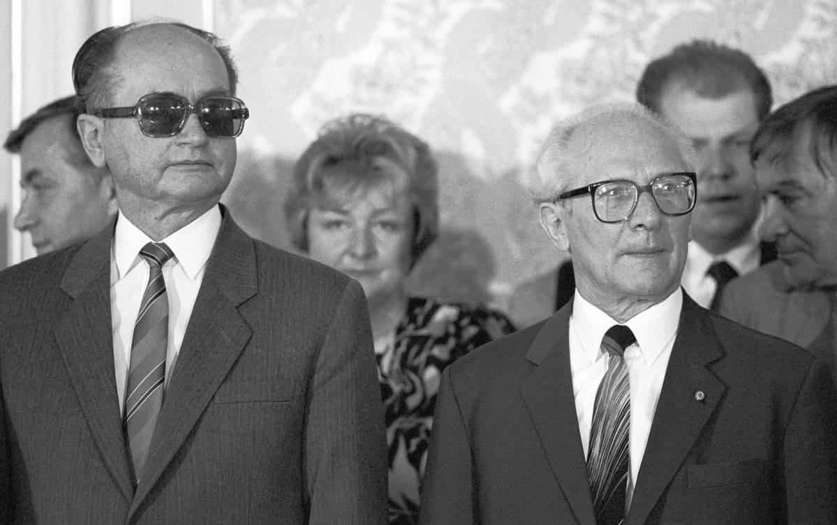 Erich Honecker ja Wojciech Jaruzelskie.