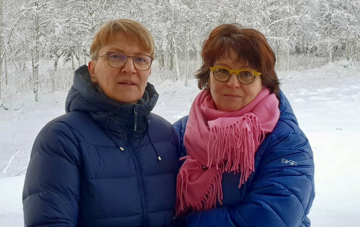 Pia Ylisuvanto ja Tuija Laine