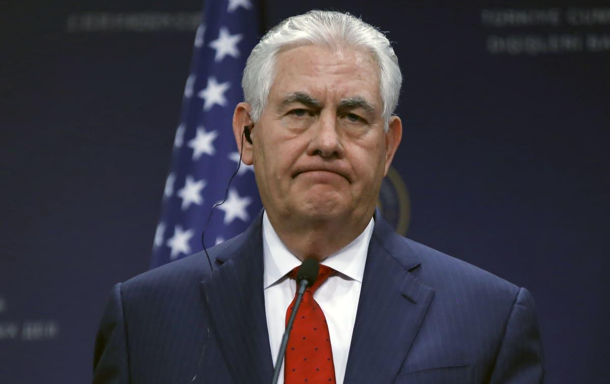 Yhdysvaltain ulkoministeri Rex Tillerson