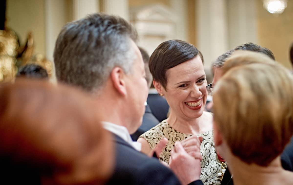 Maarit Feldt-Ranta Tasavallan presidentin itsenäisyyspäivän juhlavastaanotto Presidentinlinnassa 2015.