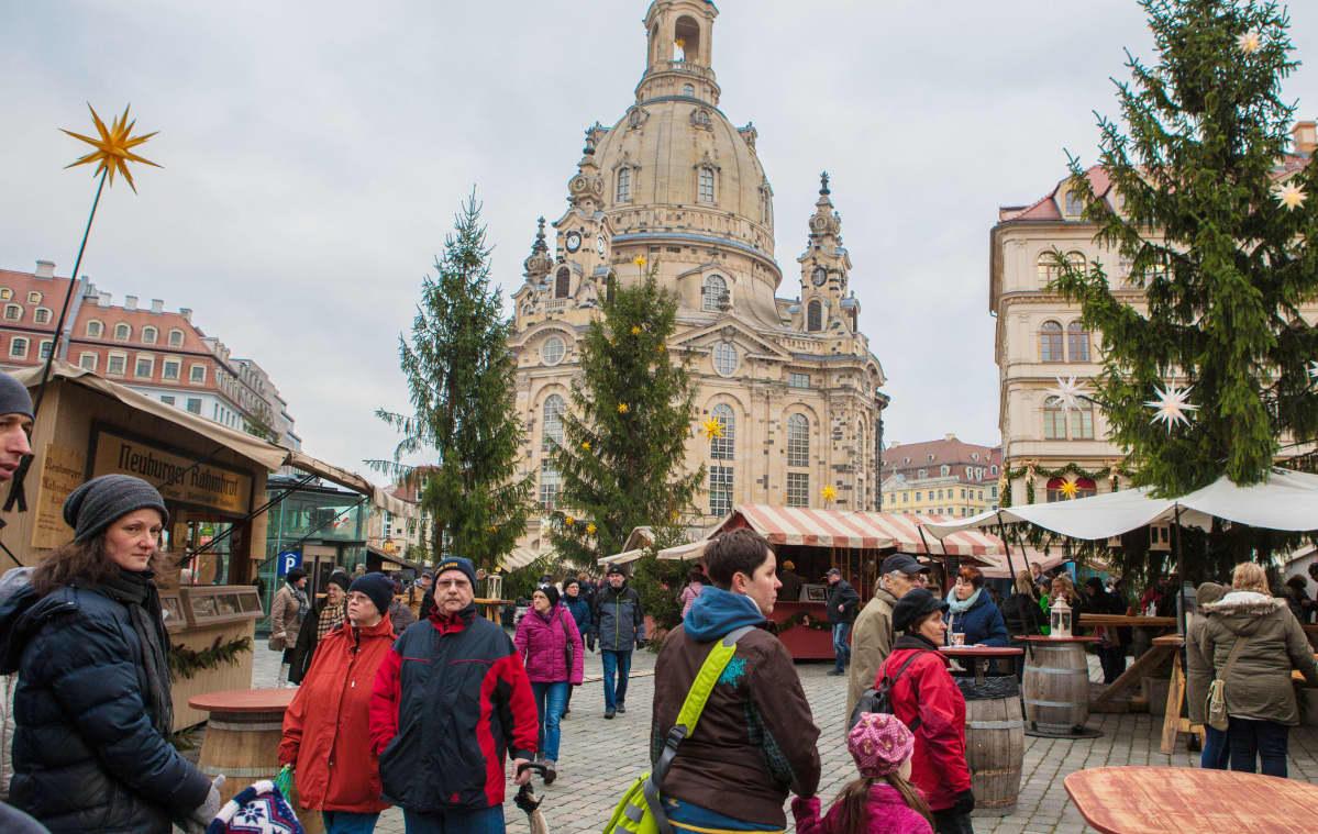 Dresdenin joulumarkkinat.