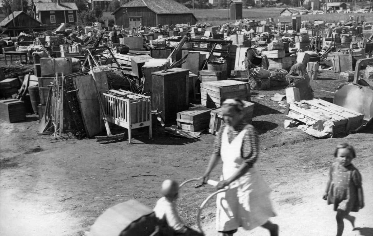 Evakot Vöyrissä 1944