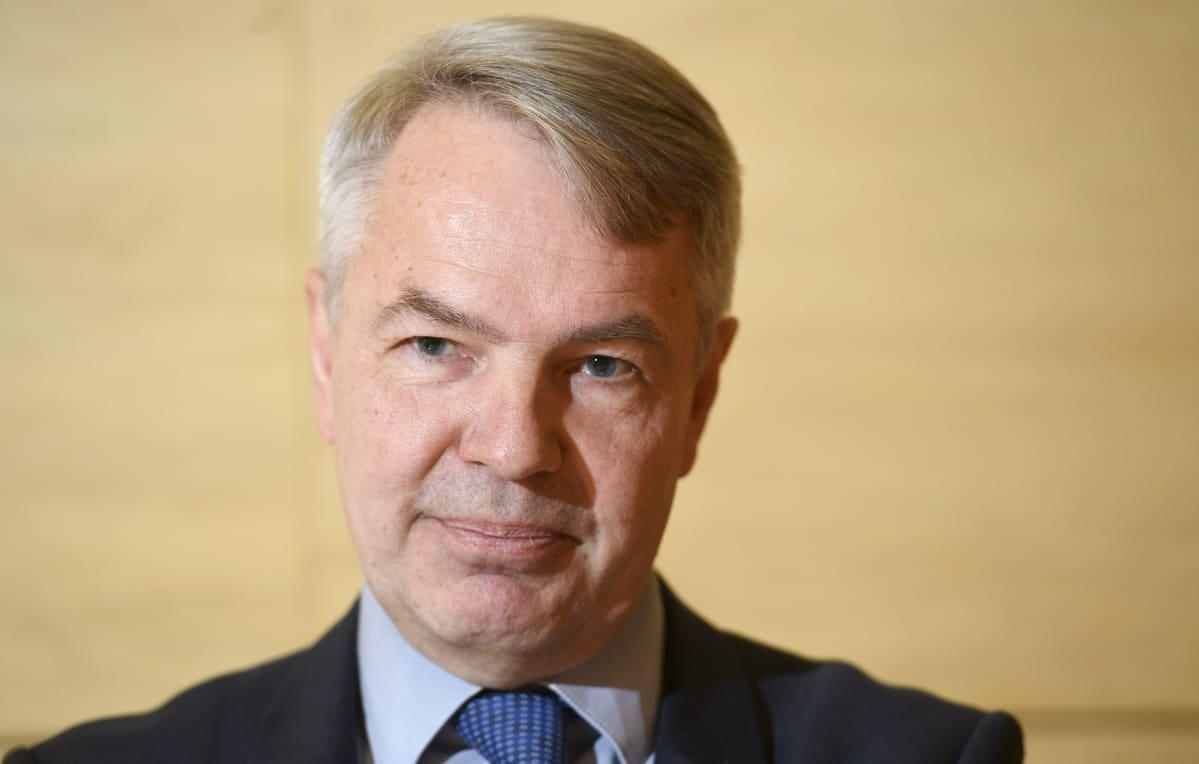 Vihreiden  puheenjohtaja Pekka Haavisto