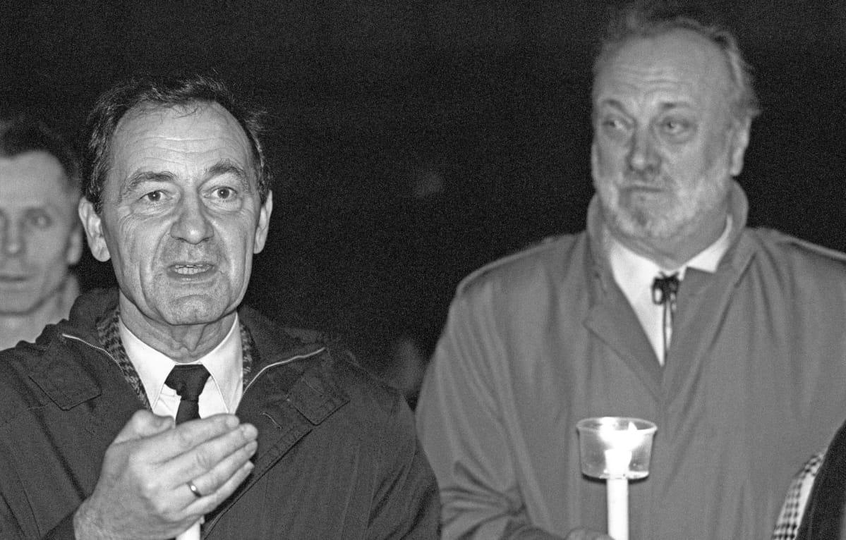 Friedrich Magirius ja Kurt Masur 18. 12. 1989.