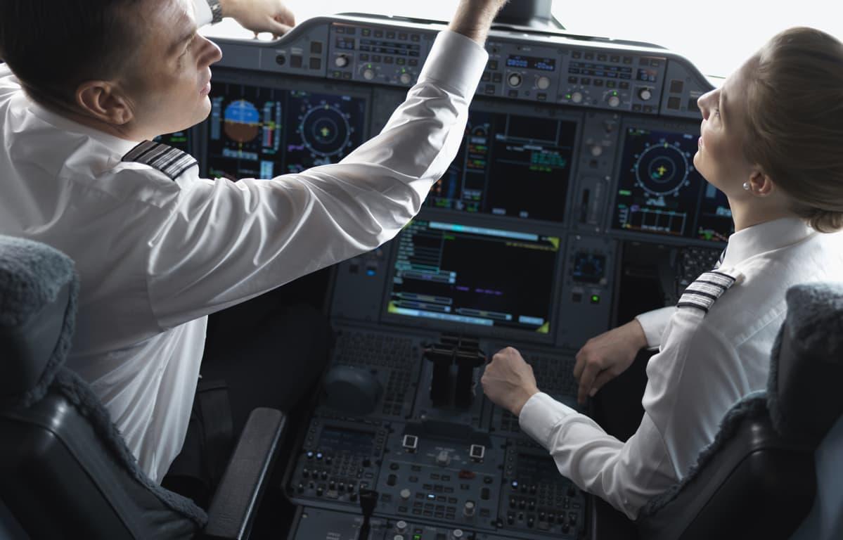 Finnair lentäjiä.