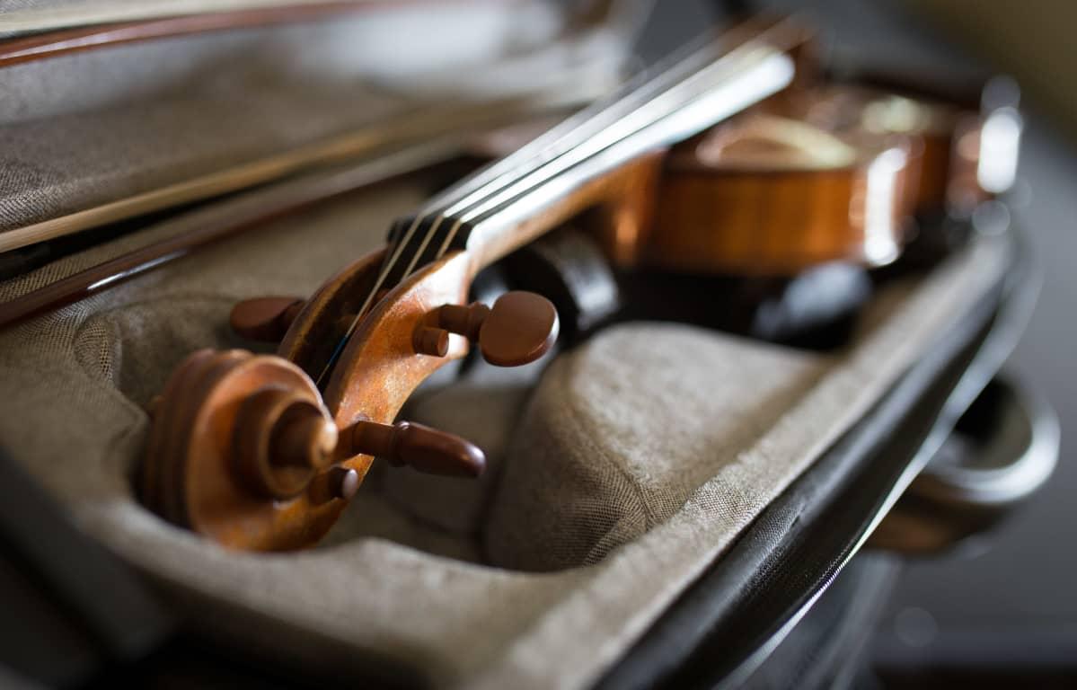 Linda Lampeniuksen viulu.