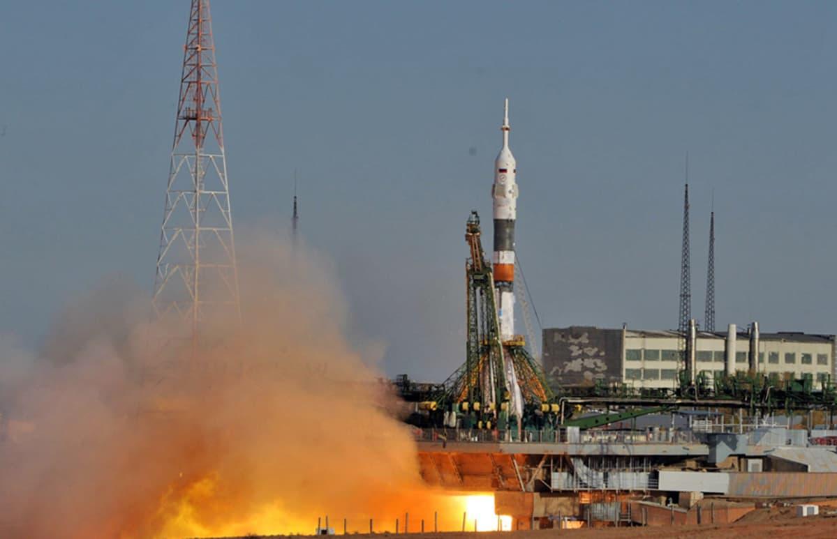 Sojuz-avaruusalus lähdössä