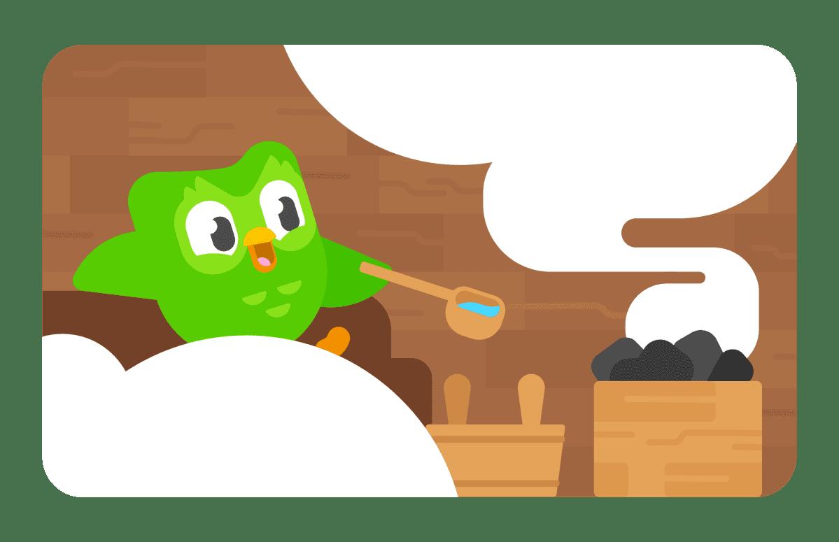 Duolingo saunassa