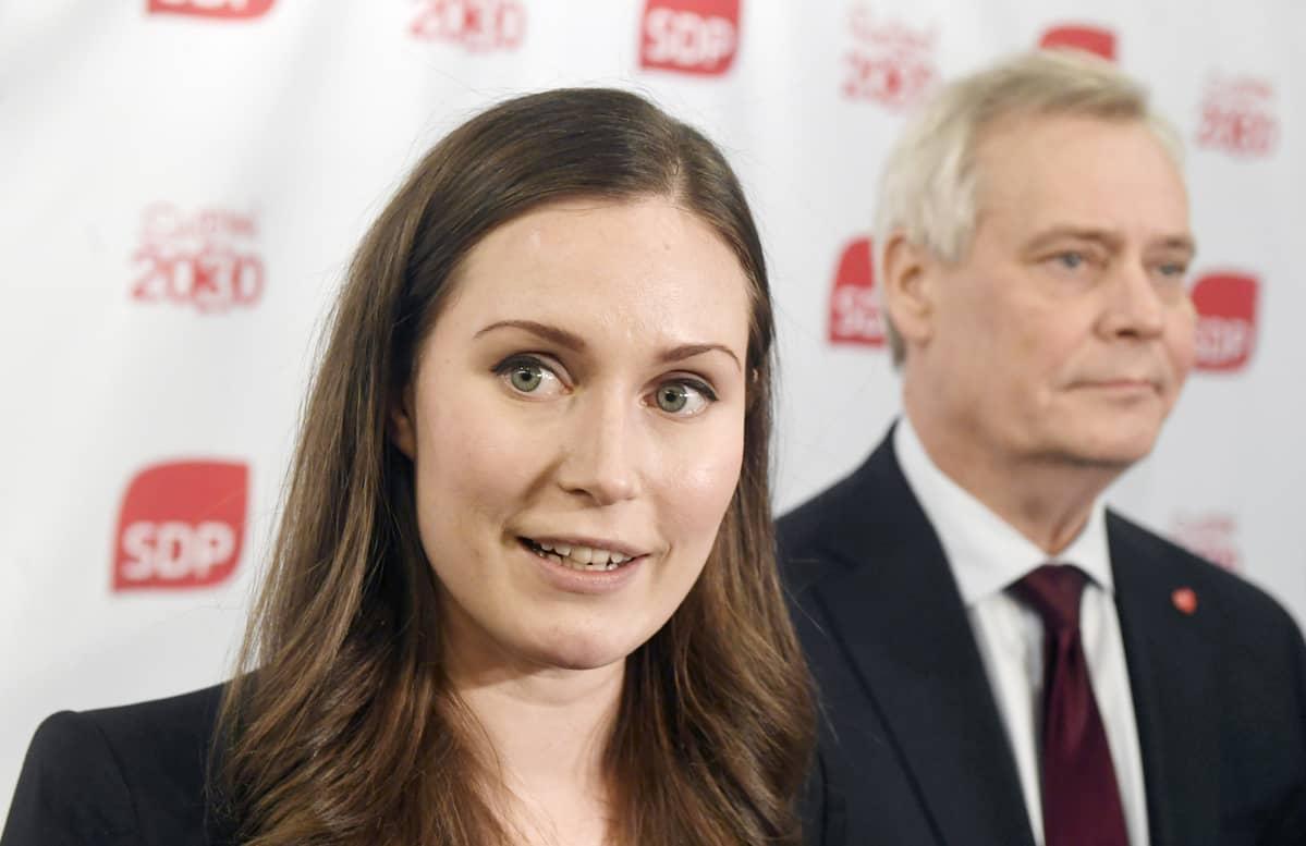 Sanna Marin ja Antti Rinne