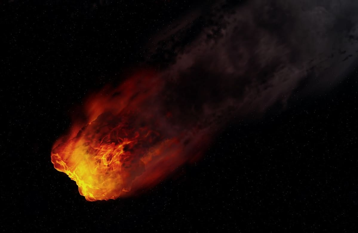 Oranssina palava meteori.