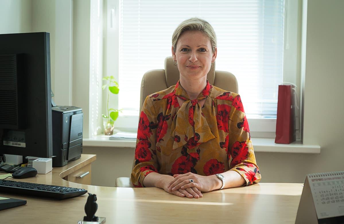 Stradiņš-yliopiston kansainvälisen osaston johtaja Baiba Pētersone.