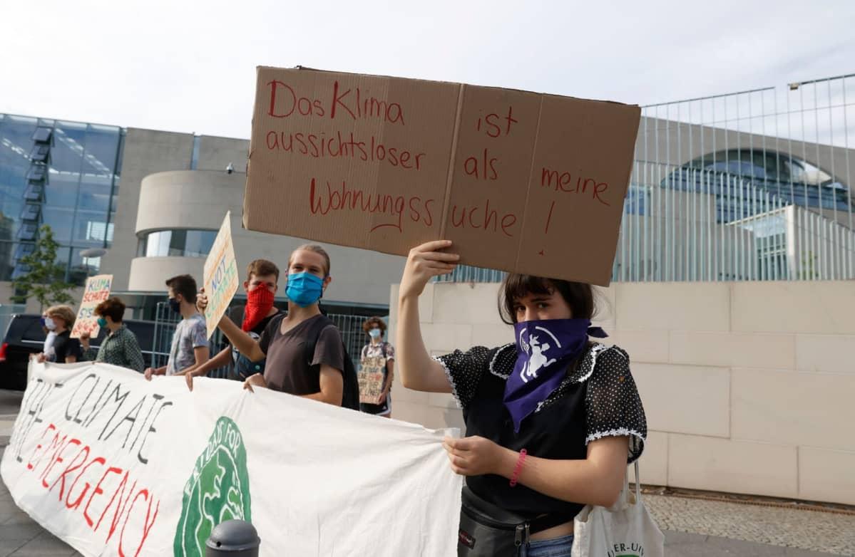 Ilmastoaktivistit protestoivat Berliinissä elokuussa.