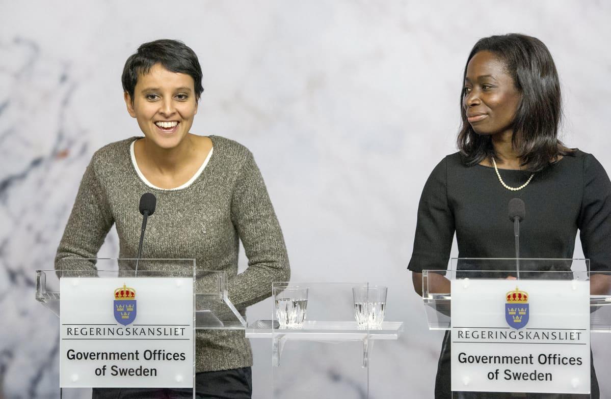 Najat Vallaud-Belkacem ja Nyamko Sabuni