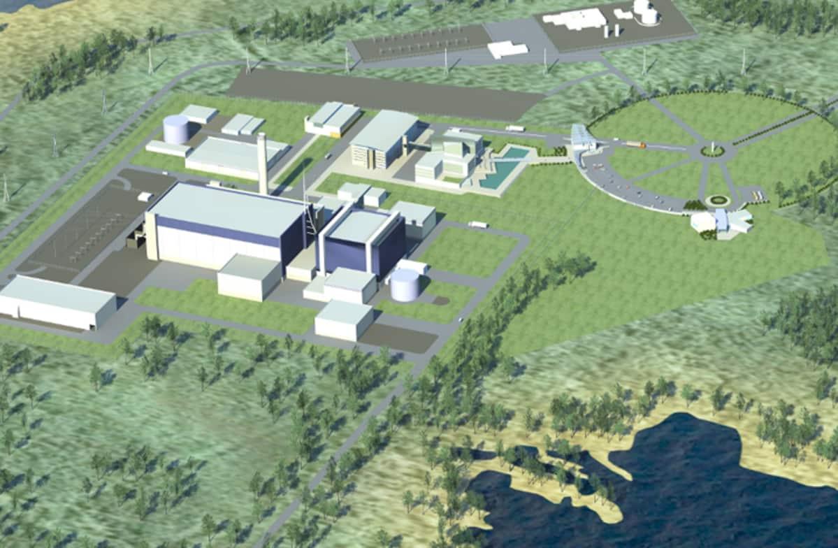 Pyhäjoelle suunniteltu ydinvoimala.