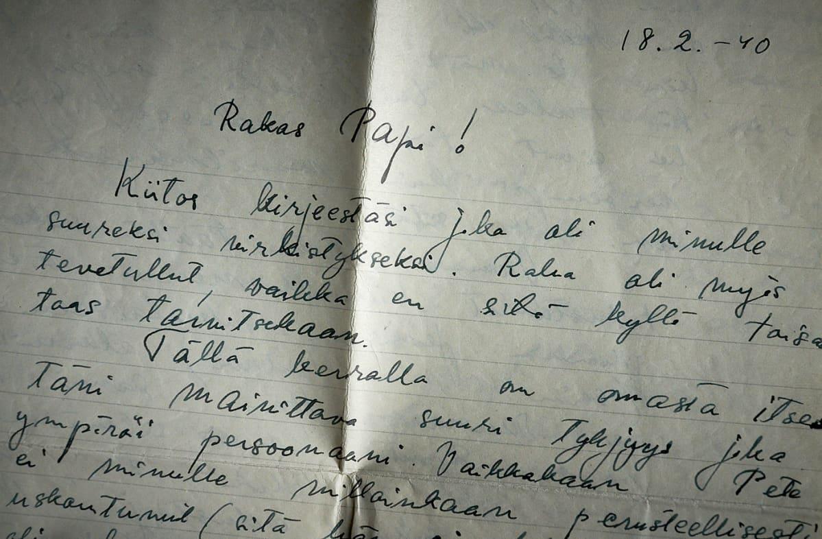 Kirje rakkaalle Papille.