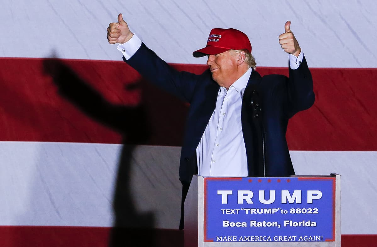 Donald Trump kampanjoi Floridassa maaliskuussa 2016.