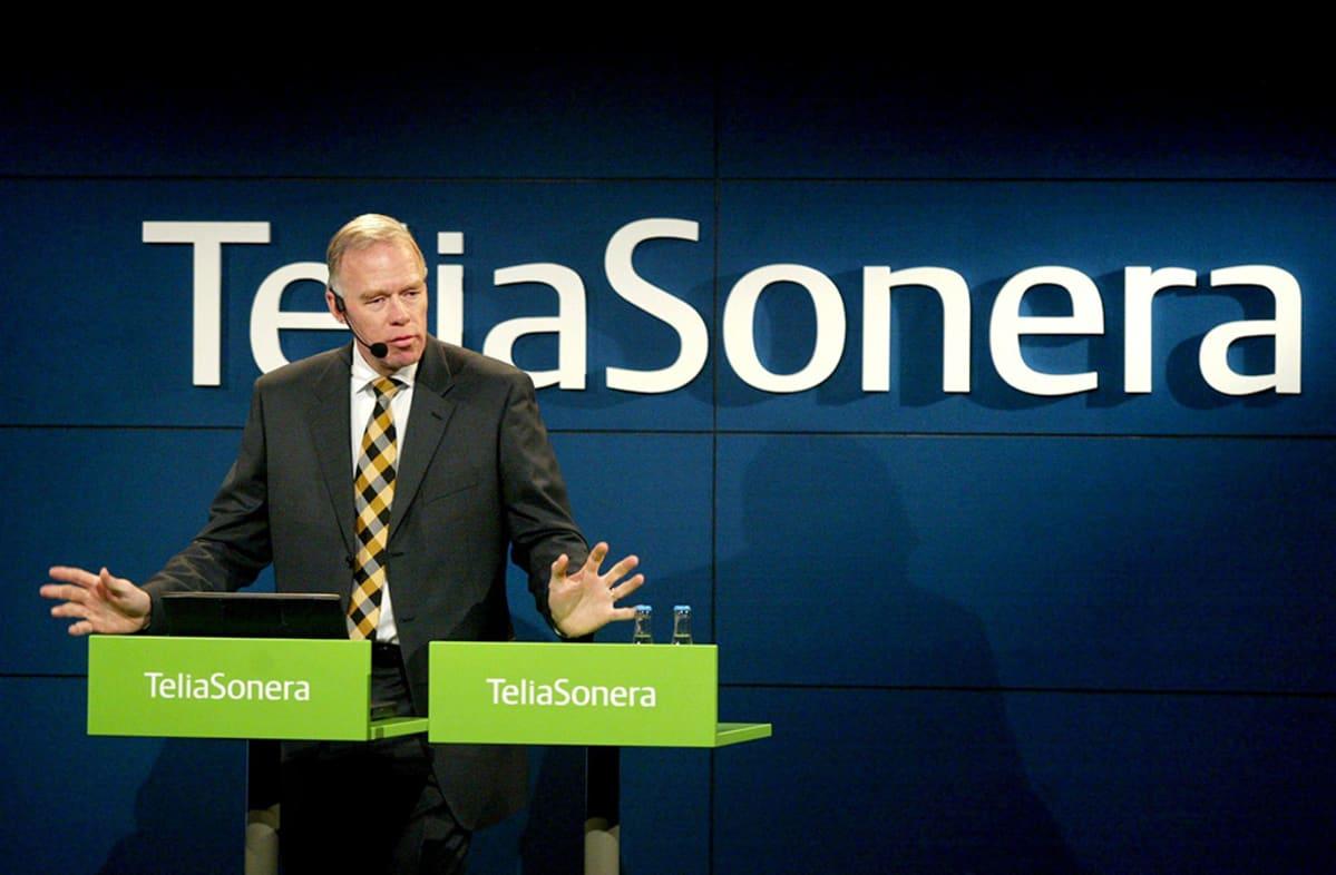 TeliaSoneran toimitusjohtaja Anders Igel puhuu.