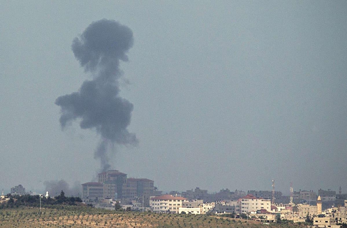 Israel tulitti Gazaa jälleen 14. heinäkuuta 2014.