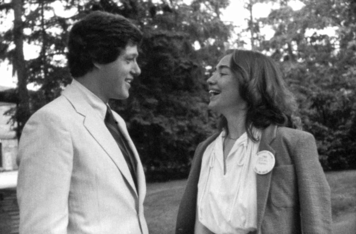 Bill Clinton ja Hillary Rodham vuonna 1969 Wellesley Collegessa, missä Clinton opiskeli.